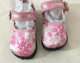 Never Worn Adorable Vintage Pink Asian Mary Jane Flats In An Infant Size 5 ~ Baby Girls Shoes