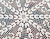 """28"""" Antique Large Doily Flowers Spokes and Geometric Designs"""