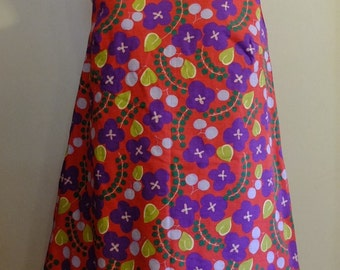 Japanese Yukata Fabric, Sleeveless Dress, One-piece.