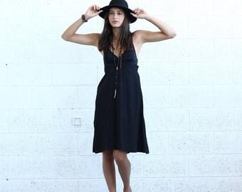 Summer SALE Sarafan Dress, Black.