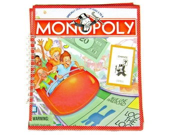 Monopoly notebook, journal, scrapbook, guestbook, or sketchbook, made from recycled Monopoly game