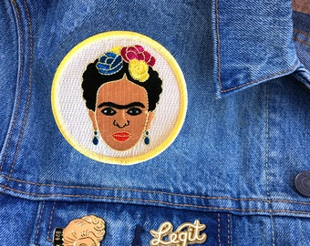 Frida Patch, Iron On Patch, Gift, Accessory, Art (PAT3)