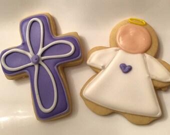Cross and Angel Cookies 2 dozen
