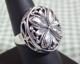 Amazing Openwork Chunky Sterling Silver Ring