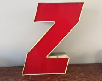 Z - Reclaimed vintage letter - XL