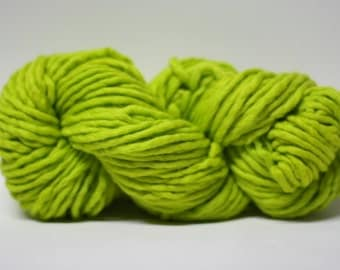 Single Ply sp Super Bulky Yarn  Hand dyed Merino 44sp15018 Chartreuse