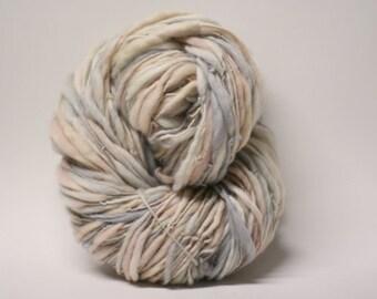 Thick and Thin Handspun Merino Wool Yarn Slub  tts(tm) Hand dyed Half-Pounder miniLR 1601b