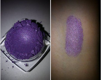 PURPLE RAIN Organic Mineral Shadow & Liner Purple Vegan All Natural Pure Eyes,Nails,Lips