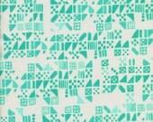 Clover Tiny Tiles in Aqua, Alexia Marcelle Abegg, Cotton+Steel, RJR Fabrics, 100% Cotton Fabric, 4029-3