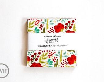 Juniper Berry Charm Pack, BasicGrey, Moda Fabrics, Pre-Cut 5 Inch Fabric Squares, 30430PP