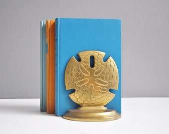 Brass Sand Dollar Bookends