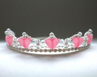 I Heart You Pink Princess Tiara