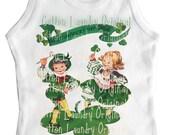 St Patricks Day tank tee shirt one piece body suit tshirt Vintage inspired childrens tshirt Lucky..St. Patricks Day..St. Paddy's Day