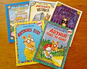 5 Arthur Children's Books Marc Brown Collection Arthur's Halloween Family Vacation Baby Goes To Camp Eye's