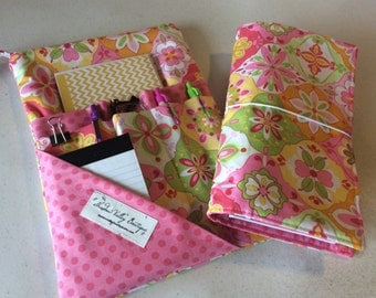 Travelers Notebook and Pouch Combination - Planner Pouch - Planner Cover