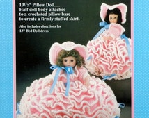 """20%OFF Fibre Fiber Craft MARY HAD A Little Lamb Nursery Rhyme 13"""" Bed Doll - Crochet Doll Dress Clothes Clothing Pattern"""
