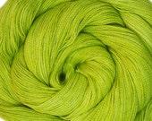 SALE baby alpaca mulberry silk lace yarn WHEAT hand dyed