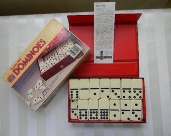 DOMINOES, Double Nine Pavilion Domino Set by Cardinal