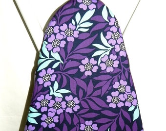 Ironing Board Cover -  Purple, lavender and pale blue flowers - Laundry and Housewares