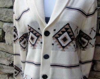 Big Lebowski Cowichan Dude Sweater Halloween Cardigan Costume S/M