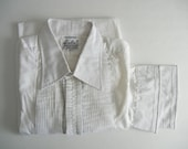 Vintage Tuxedo Shirt, Vintage Tux Shirt, White Tux Shirt, White Tuxedo Shirt, Men's White Shirt, Dress Shirt, Wedding Tuxedo, Groom Shirt