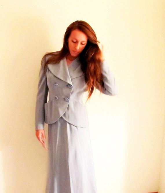 costume de mariage bleu clair vintage costume par straylightvintage. Black Bedroom Furniture Sets. Home Design Ideas