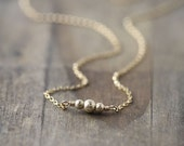 Dainty Gold Sparkle Necklace - Gold Jewelry Gift - Gold Filled Jewelry - Minimalist Everyday Jewelry by Burnish