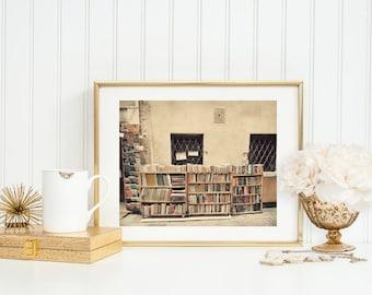 Book Shop in Venice. Venice Photo. Fine Art Photography. Italy Art Print. Wanderlust. Books. Home Décor. Wall Art. Library Décor
