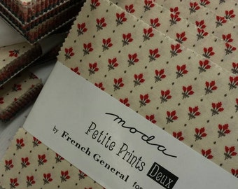 Petite Prints Deux charm packs by French General for moda fabrics