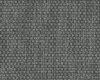 Basket Weave Upholstery - Embodies textures with an eclectic modern vibe - Very Durable, Washable - Color: Graphite - per yard