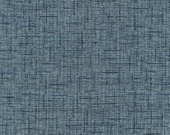 "23"" x 57"" - One Piece - Multi Color Cross Hatch Weave - Jaquard Upholstery Fabric - Robust and Durable - Beautiful - Color: Tiffany Indigo"