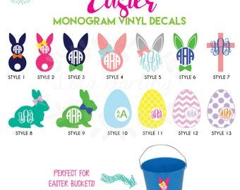 Monogram Easter Vinyl Decal Sticker