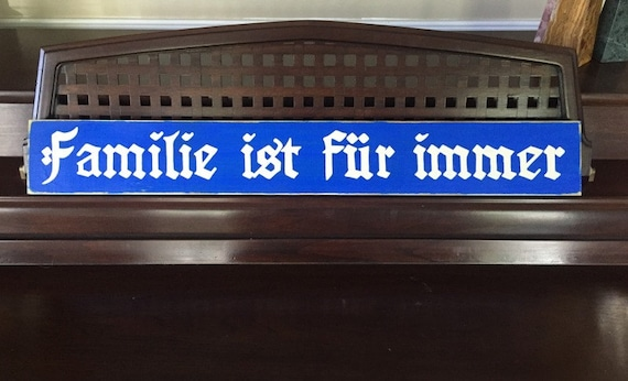 Families Are Forever German Sign Plaque For Family Photo