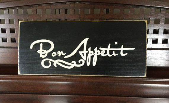 Bon Appetit French Country Sign Plaque Wall Decor Kitchen