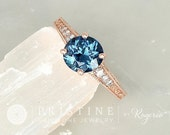 RESERVED Deposit on Custom Order for Blue Sapphire Diamond Accented Vintage Style White Gold Engagement Ring
