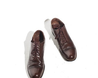 40% off Sale 8.5 | Stacy Adams Cap Toed Oxfords Brown Leather Lace Up Dress Shoe