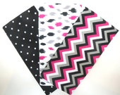 Special Order for Laura 2 Yards of Flannel Fabric in a Black with White Tiny Dot Print