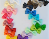 Baby Hair Bow, Bow tie hair bows, Hair Bows,You CHOOSE colors, 21 colors to choose from, Non-slip grip, Baby Hair Bows, Toddler Hair Bows