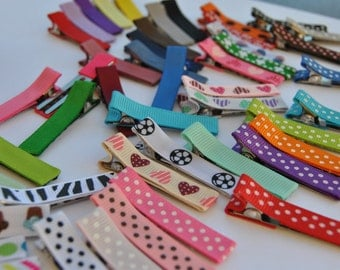 Hair Clips, You CHOOSE up to 20 colors, , Toddler Hair clips, Girls Hair Clips, 50 colors to choose from, Non-Slip Grips