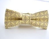 Boys Yellow Bowtie, Yellow and Gray, Yellow Bow Tie, Ringbearer Gift, Kids Bow Tie, Light Yellow Bowtie