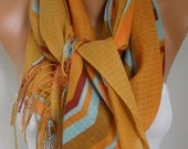 Mustard Cotton Scarf, Shawl, Fall Summer Scarf, Cowl Oversize Wrap Gift Ideas For Her, Women Fashion Accessories, Women Scarves