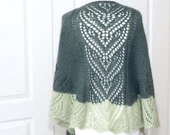 Precious semi circular lace shawl