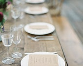Kraft Wedding Menus - Simple Wedding Menus - Modern Wedding - Kraft Wedding Menus - Garden Wedding - Vintage Wedding