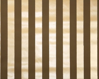 Vintage Wallpaper by the Yard 70s Retro Wallpaper - 1970s Vinyl Chocolate Brown and Tan Stripes