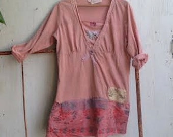 delicate rose pink romantic details funky summer soft boutique boho vintage lace rustic soft cottage gypsy top