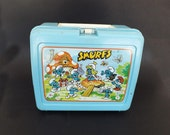 Vintage Child's Lunch Box, Smurf Lunch Box, Vintage Collectible, Smurf Collectible, School Box, Vintage Box
