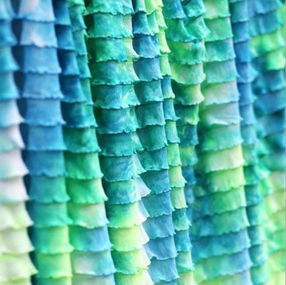 Ruffle Fabric/1 Inch Ruffle Fabric/Tie Dye Ruffle Fabric/Ruffle Pants Fabric/Ruffle Diaper Cover Fabric/Ruffle Bloomer Fabric/Girls Fabric