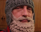 Medieval Helmet/ Manly-Man Beard Crochet Pattern- Teen/Adult