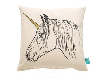 Unicorn Throw Pillow - Decorative Pillow - Nursery Pillow
