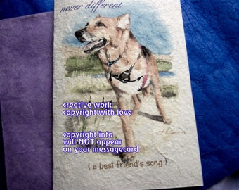 tripod special needs...never different/storybook/personalize/sentimental/unique empathy condolence/pet sympathy/pet cards